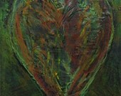 40% OFF COUPON VALENTINE   Heart Series No. 43  Original Mixed Media on Canvas