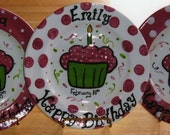 Custom Order Birthday Plate
