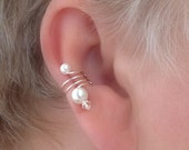 Ear Cuff Pair/Pearl and Crystal Signature Series