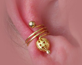 Ear Cuff Pair. Signature Series Gold Filigree Beads