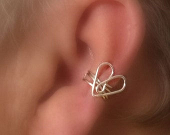 Heart Shaped Ear Cuff/ Choice of Colors