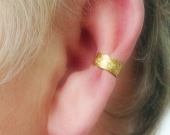 Ear Cuff Etched Brass Simple No Fuss Non Pierced