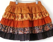 SALE-Boutique'CINNAMON' skirt 3T 4T girls 5 6 7 8.-Ready to ship- 5 tiered skirt