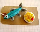 Fish 'n' Chips Brooch Set