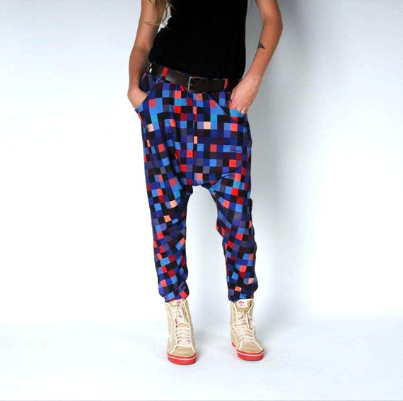 Wonderful Womens Thai Elephant Pattern Harem Pants Baggy Smocked Pants Trousers