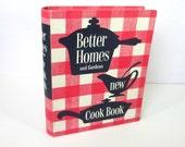 Vintage Cookbook, Better Homes & Gardens New Cookbook, 1953, 6th printing
