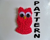 Crochet Owl Pattern Ornament Magnet Garland Tiny Small and Easy