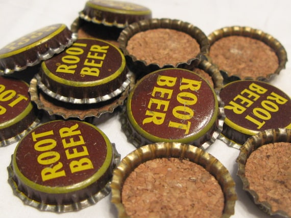 Vintage root beer bottle caps