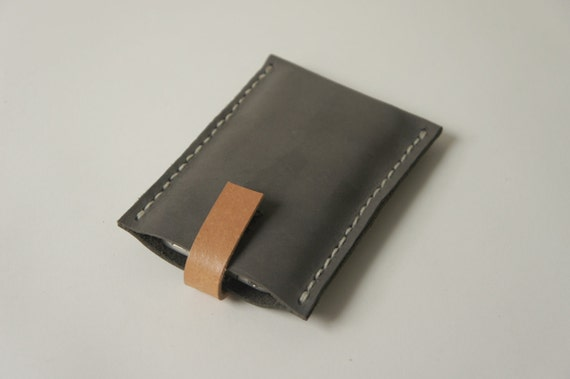 Iphone case - Grey Sueded leather