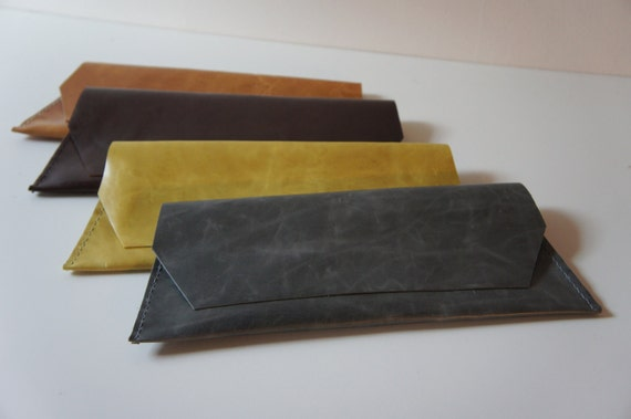 Long Clutch - Antique Finish Leather