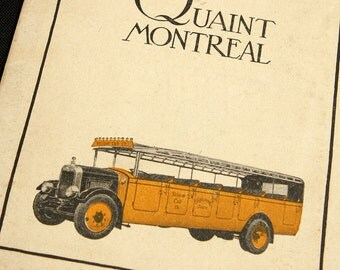 Quaint Montreal Quebec Travel Brochure 1920's or 1930's Canada