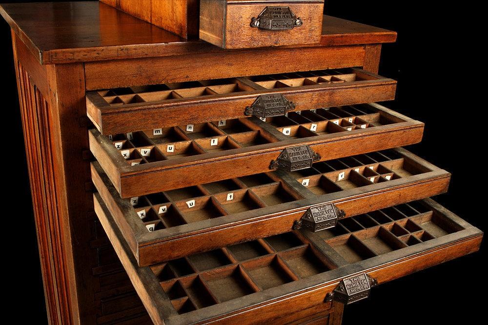 Hamilton Printers Cabinet | MF Cabinets