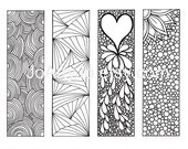 Black Friday Etsy, Cyber Monday Etsy, Zendoodle Bookmarks DIY, Zentangle Inspired Printable Coloring, Digital Download, Sheet 2