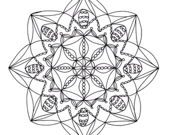 Mandala Coloring Page, Instant Download Mandala Printable Page 3