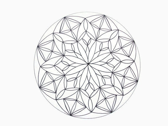 Printable Mandala Coloring Page Instant Download Page By JoArtyJo