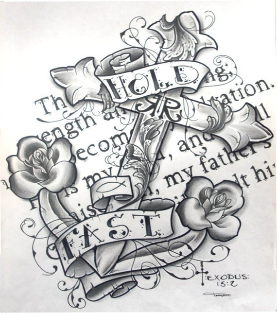 Pencil Drawings Of Roses And Crosses ,sea,ocean,roses,cross,