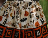Halloween Skirt, Girls Boutique Skirts, Vintage Halloween Skirt, Halloween Sale, Toddler Girl's Halloween Skirt 2T/ Ready to Ship