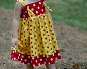 Ladybug Knot Dress / RTS 3T & 4T
