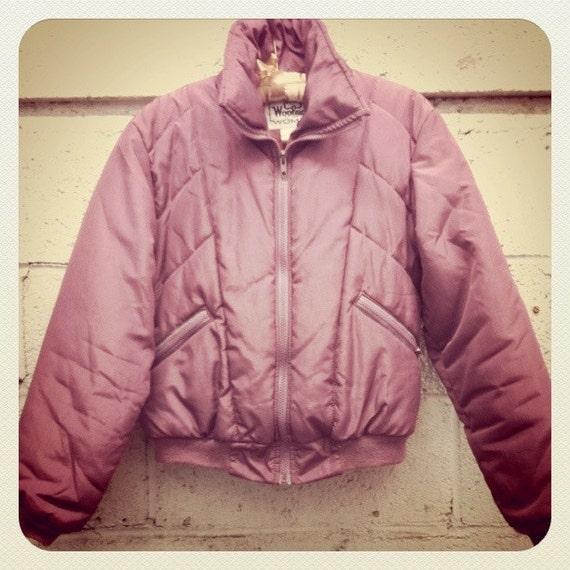 SALE Vintage Woolrich Plum Puffer Jacket