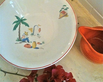 Vintage Mexicana Bowl Knowles 1940s Kitchen Kitsch