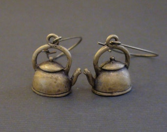 Clearance-Vintage Antiqued Kettle-Earrings