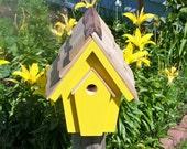 yellow wren house