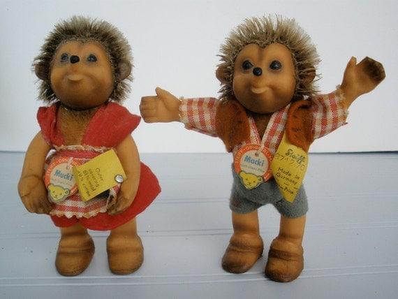 Vintage German Steiff Hedgehog Dolls