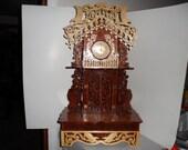 Fretwork American Eagle Mantle Clock
