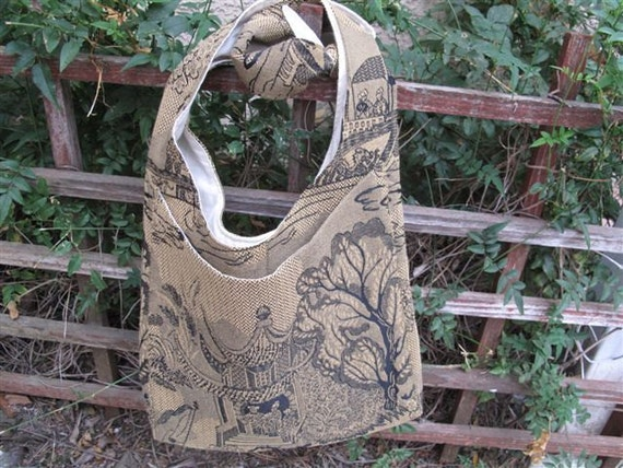 Tote Purse - Vintage Inspired Chinese Fabric