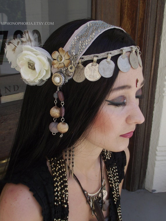 Tribal Fusion Belly Dance Headpiece- Lily