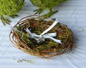 Love Birds Ring Barrer Nest and Flower Girl Basket - Set of 3