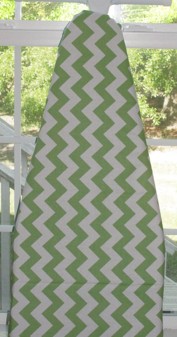 Designer Decorative Ironing Board Cover Chevron Green by Riley Blake
