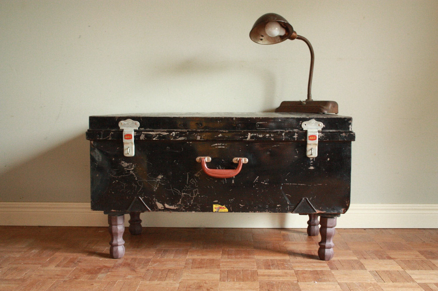 Etsy your place to buy and sell all things handmade vintage and supplies Metal chest coffee table