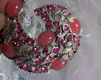 Vintage Pink and watermelon color  brooch