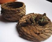 Little Pine Needle Basket with Lid