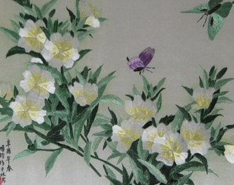 chinese art ,hand made silk embroidery flower,home decor