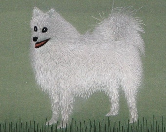 chinese art, hand made silk embroidery dog,pet,puppy,home decor