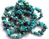 1 Bulk Strand Natural Turquoise Stone Chip and Pebble Beads