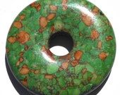 45mm Green Mosaic Turquoise Stone Donut Pendant