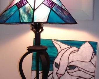 Purple and Blue Lamp Shade