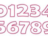 "Sizes 3"", 4 "", 5 "", 6""- File NUMBER 408 - Applique design numbers 0-9 - Applique Design -Instand Download"