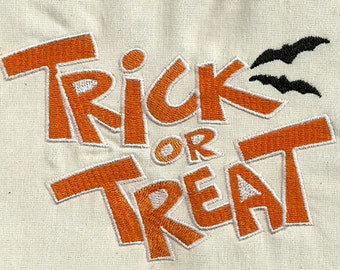 Instant Download - TRICK or TREAT 016 -  fill stitch - Machine Embroidery Design  Sizes  4x4 5x7 6x10