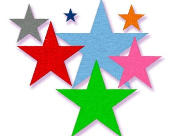 INSTANT DOWNLOAD is now available - STARS  062  - Machine Embroidery Design