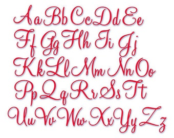 Instant Download - Embroidery Font 230- 5 sizes - Machine Embroidery Font  -  Sizes 1 - 1.50 - 2 - 2.50 - 3