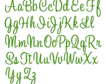 "Instant Download - Embroidery Font 215 - Sizes 1"",2"",3"" - Machine Embroidery Font"