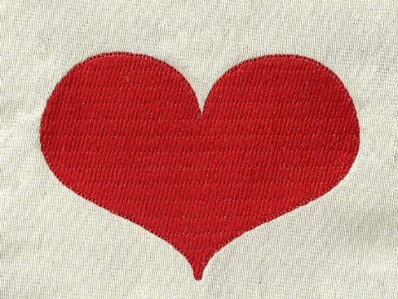 Instant Download - RED HEART 067 - Machine Embroidery Design -  Applique and fill stitches design