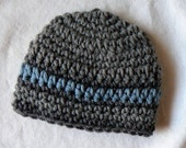 Sophisticated Baby Boy Hat Handcrafted Newborn Infant gifts Photo Prop Crochet Ready