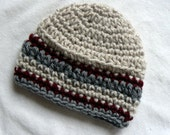 Newborn baby boy hat in light summer colors Gift thats bound to be a keepsake for any family