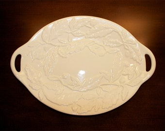 vintage ivory Royal Oak serving plate