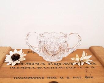 vintage small crystal pinwheel dish